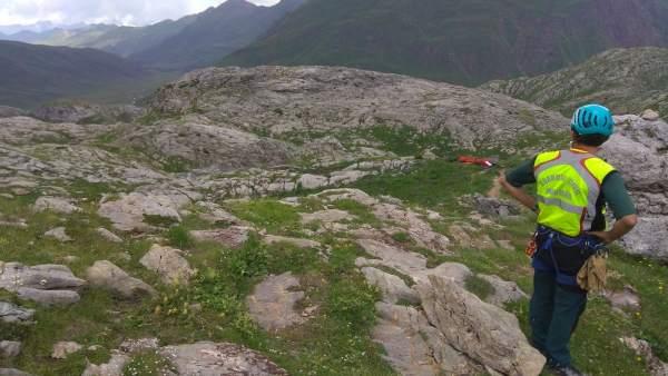 El senderista falleció cuando practicaba deporte en el Ibón de Estanés