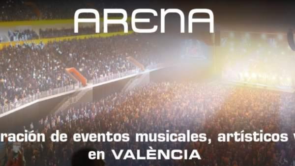 L'Ajuntament de València recolza per unanimitat el projecte de Roig per a construir el nou pavelló Arena