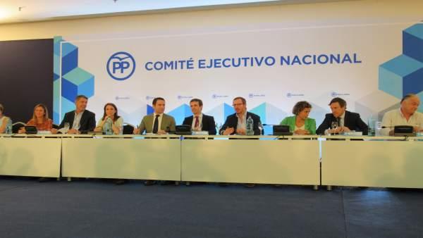 Reunión Del Comité Ejecutivo Del PP En Barcelona Presidido Por Pablo Casado