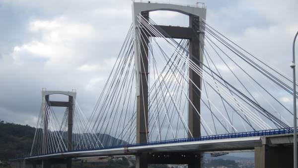 Puente de Rande tras la ampliación