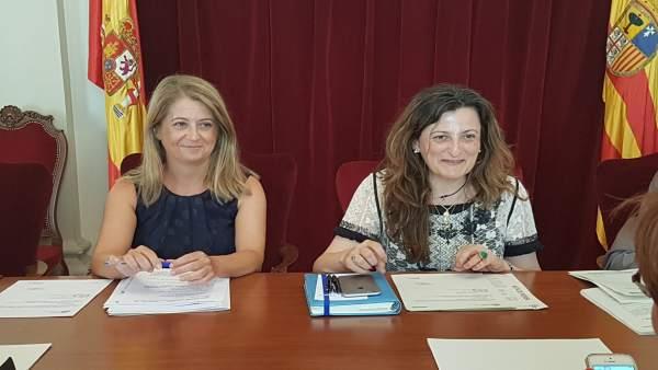 María Ángeles Navarro e Isabel Blasco
