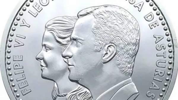 Moneda con la imagen de la princesa de Asturias