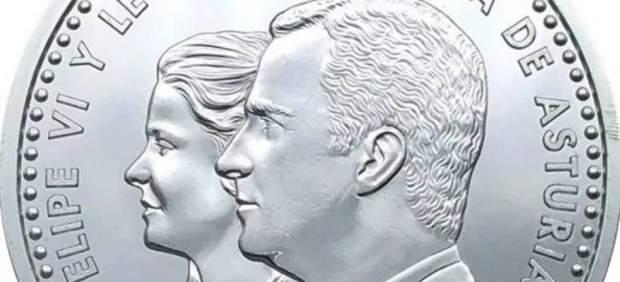 La moneda con la polémica imagen de la princesa Leonor sale este lunes a la calle
