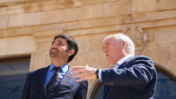 El conseller Jordi Puigneró y el pte.De la Diputación de Tarragona Josep Poblet