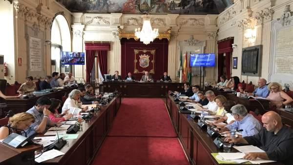 Pleno del Ayuntamiento de Málaga julio 2018