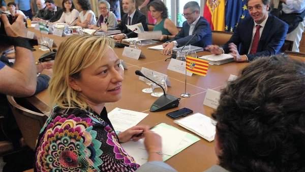 Marta Gastón en la Conferencia Sectorial de Medio Ambiente.