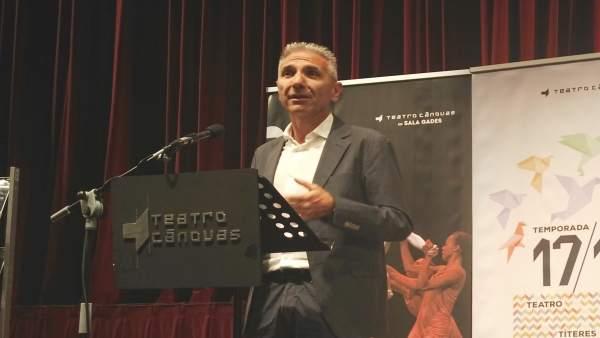 El consejero de Cultura, Miguel Ángel Vázquez