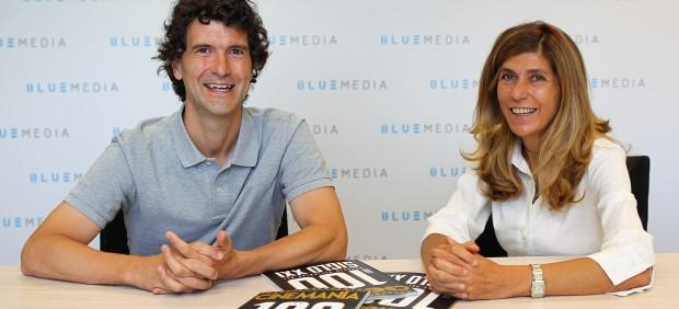 Carlos Marañón, director de Cinemanía y Hortensia Fuentes, directora de Blue Media