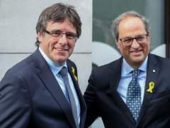 El expresident de Cataluña, Carles Puigdemont y el actual president, Quim Torra en Bruselas