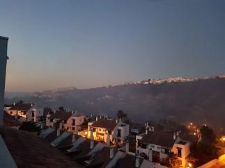 Incendio forestal declarado en Manilva (Málaga).