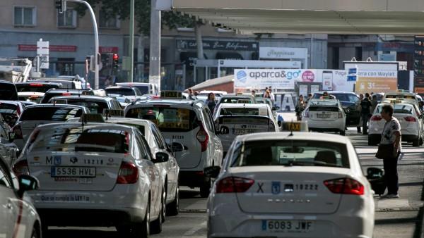 huelga taxi madrid