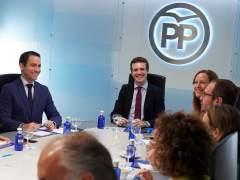 Casado y García Egea, en la reunión del comité de dirección del PP.