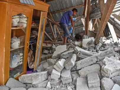 Terremoto en la isla indonesia de Lombok