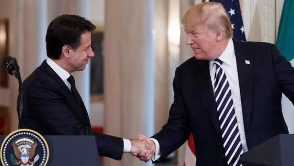 Donald Trump y Giuseppe Conte