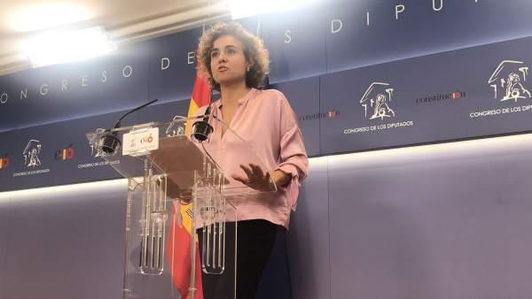 Dolors Montserrat, en el Congreso.