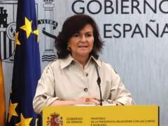 """Carmen Calvo responde a Torra: """"Con una frase inaceptable no se ataca al Estado"""""""