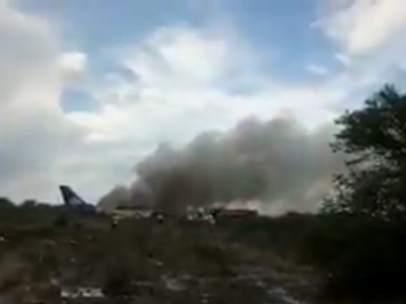 Un avión se estrella en Durango (México)