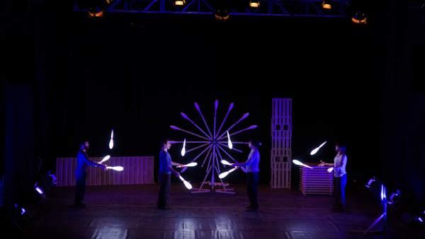 La compañía Nueve Uno actúa en el II Ciclo de Teatro, Circo y Danza de Teruel