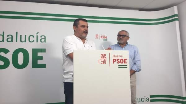 Los parlamentarios andaluces por Huelva Jesús Ferrera y Diego Ferrera.