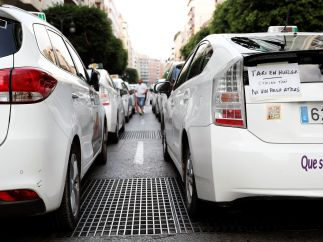 'Taxi en huelga'