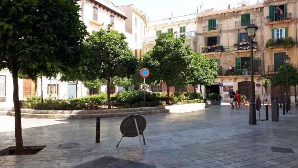 La plaza del Banc de s'Oli ya es peatonal desde este miércoles 1 de agosto