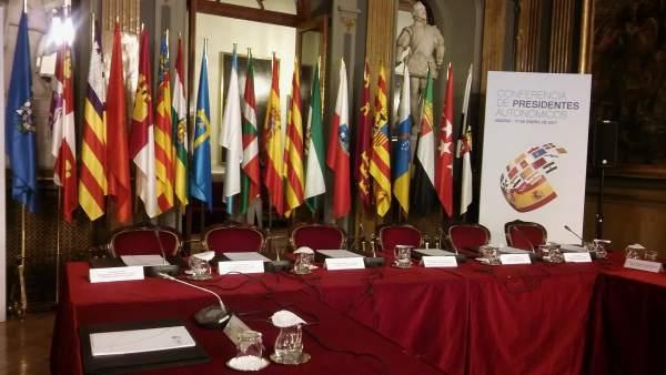 Sala de reuniones de la VI Conferencia de Presidentes