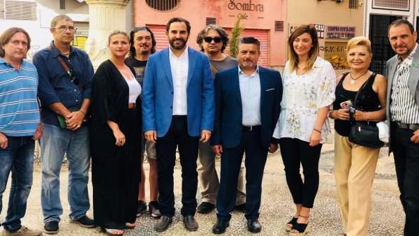 Daniel  Pérez , portavoz PSOE en el Ayuntamiento de Málaga, en rueda de prensa