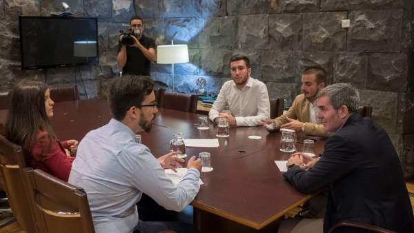 Reunión Presidente Del Consejo De Juventud De Canarias