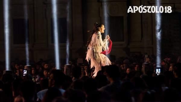 Concierto de Rosalía en el último día de las Fiestas del Apóstol 2018