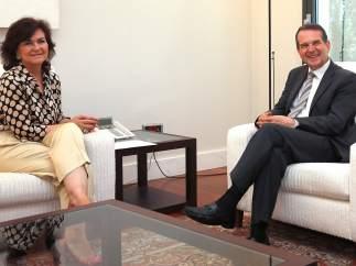 Carmen Calvo y Abel Caballero en su reunión de este miércoles.