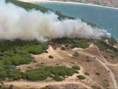 Incendio en paraje Punta Caraminal de Tarifa