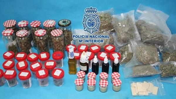 Marihuana intervenida por la Policía Nacional en Pontevedra