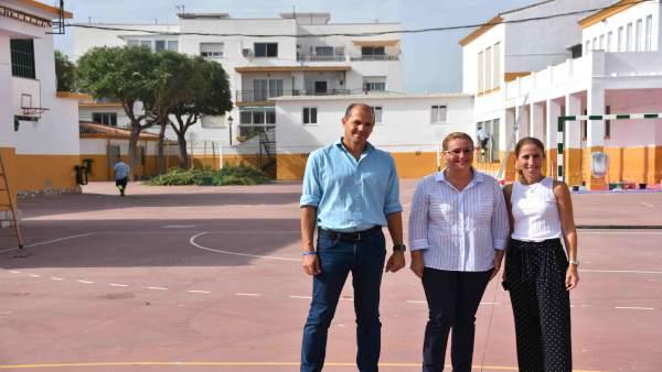 Los ediles y la alcaldesa Ana Mula, en el Sohail