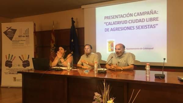 Presentación de la campaña 'Calatayud, ciudad libre de agresiones sexistas'