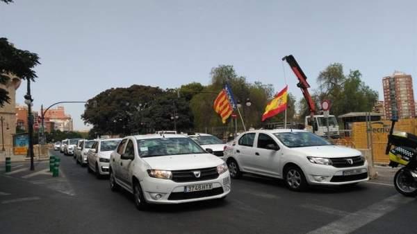 Manifestación taxistas