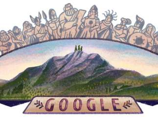 Doodle monte Olimpo