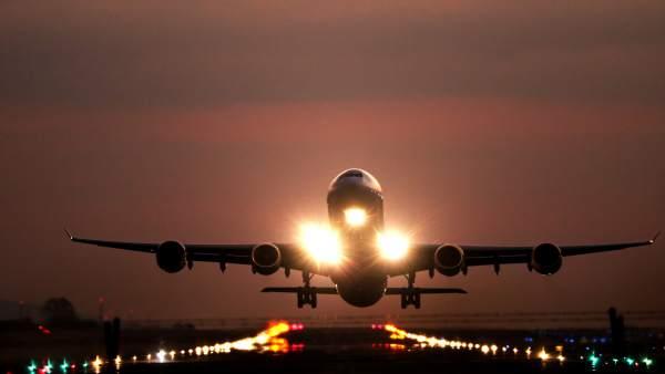 Imagen de un vuelo en avión