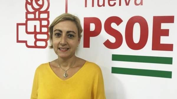 La secretaria de Educación del PSOE de Huelva, Tania González.