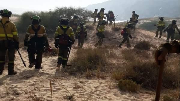 Acciones contra el incendio de Punta Camarinal