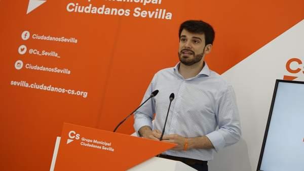 Concejal de Cs en el Ayuntamiento de Sevilla, Javier Moyano