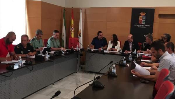 Reunión de la Junta Local de Seguridad de Martos.