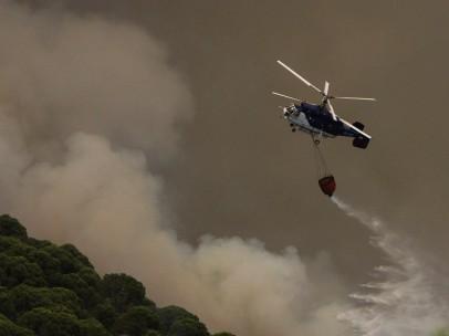 Incendio en Moguer y Nerva (Huelva)