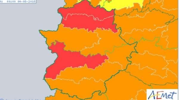 Alertas en Extremadura 3 de agosto