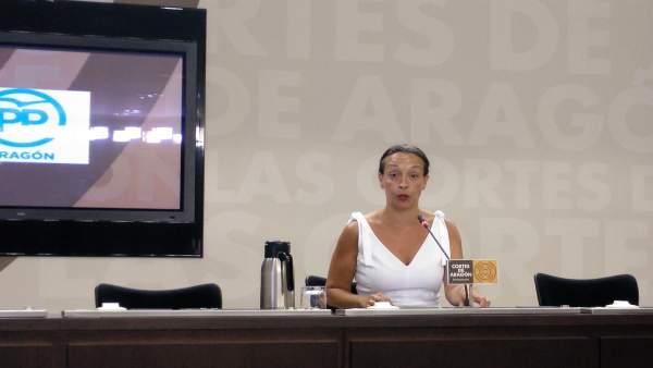 Carmen Susín en rueda de prensa.