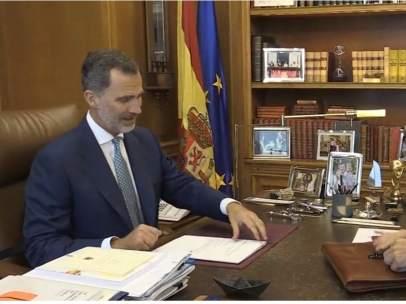 Despacho de Felipe VI y Pedro Sánchez