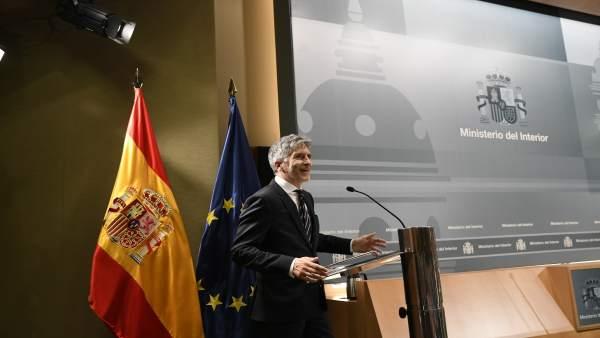 Intervención del ministro de Interior, Fernando Grande-Marlaska