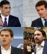 Líderes del PSOE, PP, Ciudadanos y Unidos Podemos