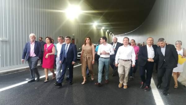 Inauguración del paso inferior de la V-30 en Xirivella