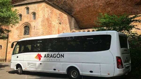 Nuevo autobús de Turismo Aragón para el Monasterio de San Juan de la Peña