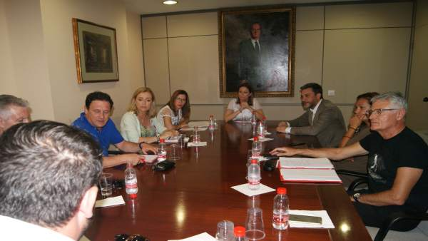 Reunión López Pagán, alcaldesa de Águilas y Cartagena